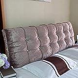 Home Pillow Estilo Chenilla Tela Cabecera De Mercado con Diamantes, Doble, King & Super King (Color : Khaki, Size : 150cm)