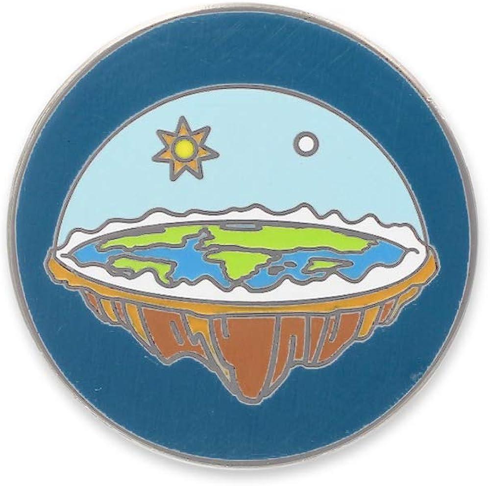 WIZARDPINS Flat Earth Society Sky Dome Hard Enamel Lapel Pin