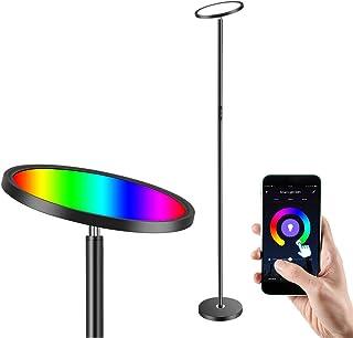 Anten LED Stehlampe Dimmbar Deckenfluter, 25W Smart WIFI Stehleuchte Modern Schwarz mit RGB, Farbtemperaturen und Helligke...
