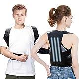 Petdal Haltungskorrektur, Komfortabeler Rückenstabilisator Haltungstrainer für Damen und Herren, mit 2 weiche Polster lindern Achsel-Schmerzen und 3 Stützleiste für Starke Unterstützung - M