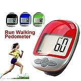 Cosanter Contapassi Step Counter Conta Calorie Pedometro con Grande Schermo LCD Display,Jogging Proprio Track Contapassi con Clip