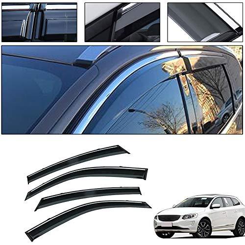saitake Windabweiser Für Volvo XC60 2009-2017 Autofenster Visier Sonne Regen Rauchabzug Schatten Klebeband Außenvisiere