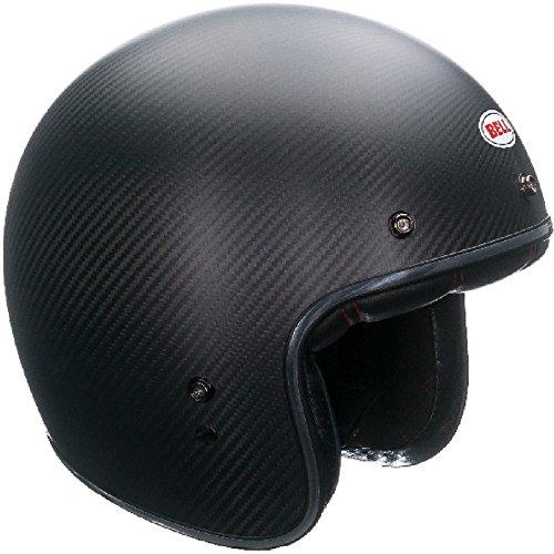 Bell Casco Custom 500 Carbonio Opaco, Nero, Taglia L
