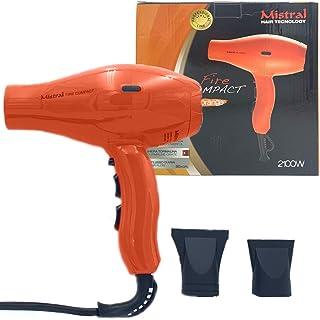 MISTRAL Secador de pelo Fire Compact Orange de 2100 W, compacto, potente, color naranja