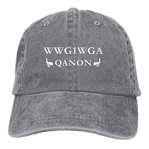 Suxinh Anon WWG1WGA Where We Go One We Go All Q Anon Adult Dad Hat Baseball Hat Vintage Washed Distressed Cap Multicolor98