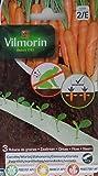 3 Cintas biodegradables Vilmorin 525 semillas de ZANAHORIA (cultivo fácil)
