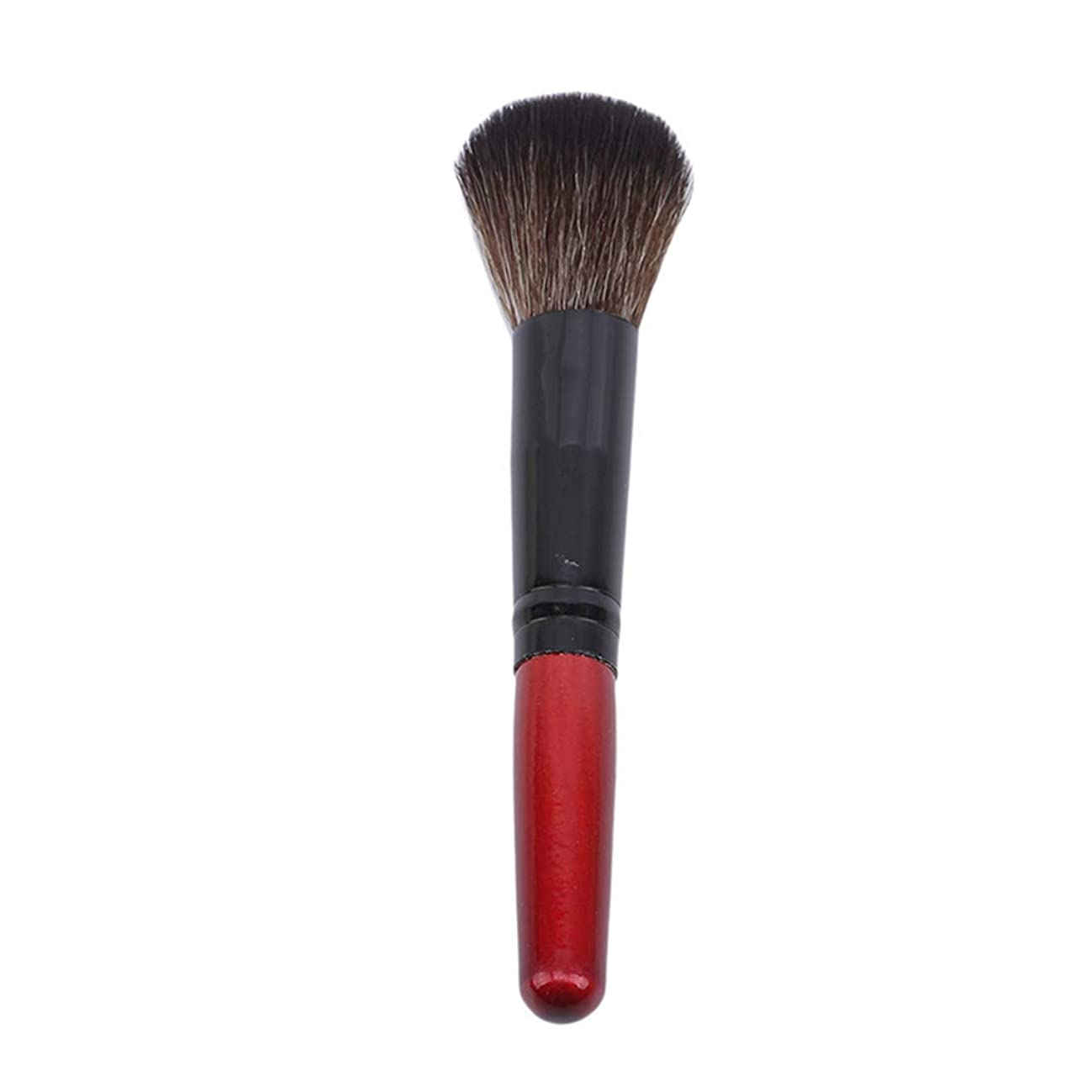 Underleaf 1ピース木製ハンドルファンデーションブラシ化粧品メイクブラシパウダーコンシーラーブラッシュリキッドメイクアップブラシ、赤