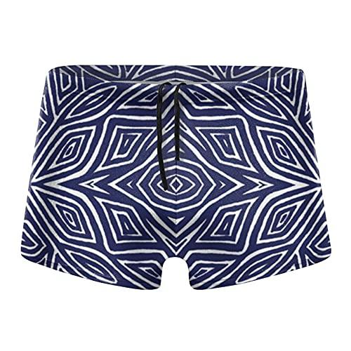 XCNGG Navy Rose Calzoncillos Tipo bóxer de Secado rápido para Hombres Bañadores Shorts Trunks Traje de baño-Pequeño