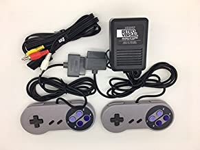 Super Nintendo SNES Controllers, AV Cable and Power Adapter Bundle for the Original Super Nintendo SNES Console System TBGS