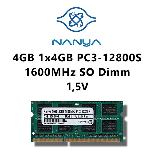 Samsung Hynix Nanya Elpida 4GB (1x 4GB) DDR3 1600MHz (PC3 12800S) SO Dimm Notebook Laptop Arbeitsspeicher RAM Memory