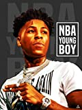 777 Tri-Seven Entertainment NBA YoungBoy Poster Never Broke Again Wall Art Print (18x24), Multi-Color