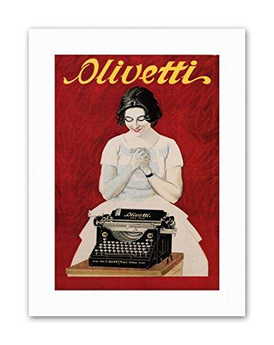 Wee Blue Coo Ad Olivetti Typewriter Italy Vintage Canvas Art Print