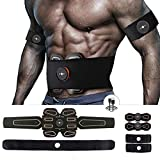 MBODY ABS Muscle Toner Abdominal Toning Workout Belt Body Training Gear Fitness Equipment Full Set for Abdomen/Arm/Leg Training(USB Charging)