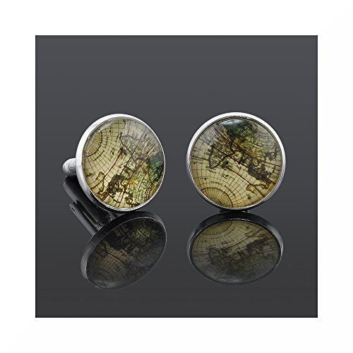 Preisvergleich Produktbild World / Earth Cufflinks and Cuff link presentation box by SilverFox