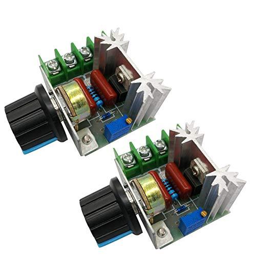 KingSaid 2x Leistungsregler für Teichpumpen Elektromotoren PWM-Drehzahlregler Drehzahlregler
