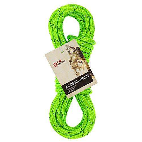 GM CLIMBING 6mm Accessory Cord Rope Double Braid Black Pre Cut CE (Green Flecks, 6mm 100ft)