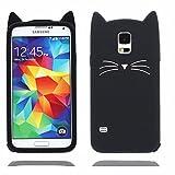 Noir Chat Coque Pour Samsung Galaxy S5,Housses de téléphone,TPU Silicone...