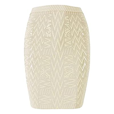HLBandage Leather Metallic High Waist Bandage Skirt
