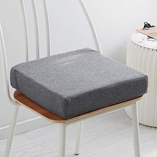 Yuly Rutschfeste Sitzkissen gefüllt mit Memory-Schaum, dick quadratisch feste Sitzkissen, Stuhlkissen mit waschbarem Bezug, für drinnen und draußen