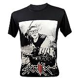 Men's Skrillex DJ Techno Music T-Shirt V6 Dark Grey Medium
