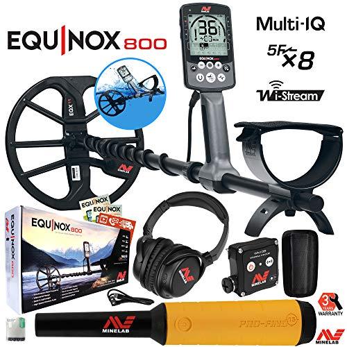 Minelab Equinox 800 Multi-IQ Underwater Metal Detector & Pro-Find 15 Pinpointer Detectors Metal
