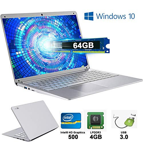Notebook Portatile 14,1 Pollici 4 GB RAM & 64 GB Memoria Windows 10 PC Portatile WI-FI 2.3Ghz Laptop PC 1920 x1080 IPS
