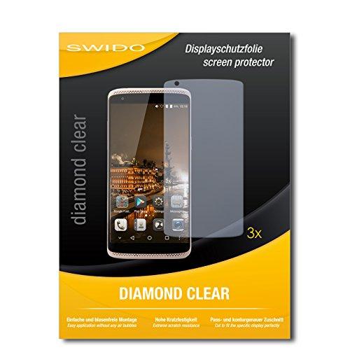 SWIDO 3 x Schutzfolie ZTE Axon Mini Premium Edition Bildschirmschutz Folie DiamondClear unsichtbar