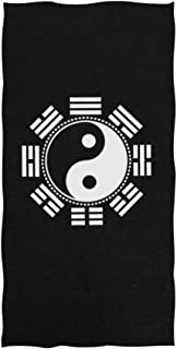 Daisy18 Tai Chi Bath Towel Absorbent Hand Towels Multipurpose for Bathroom Hotel Gym and Spa 27.5