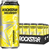 Rockstar Energy Drink Recovery Lemonade, 16oz Cans (12 Pack) (Packaging May Vary)