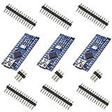 GeekerChip 3 x Mini Nano V3.0 ATmega328P 5V 16M Micro Controlador Módulo para Arduino Nano V3.0