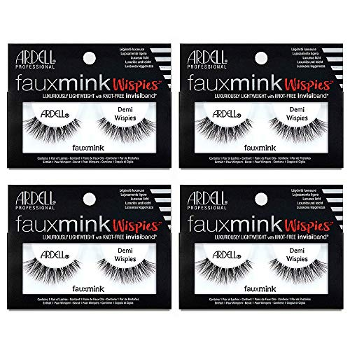 Ardell Faux Mink Lashes Demi Wispies, 4 Pack