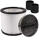 KTSIM Cartridge Filter Replacement Part Accessories With Lid , Compatible with Shop-Vac 90350 90304 90333 and 90585 Foam Filter, fits most Wet/Dry Vacuum Cleaners 5 Gallon and above