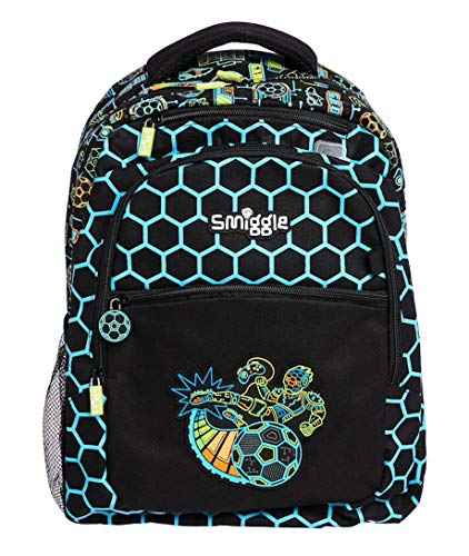 Smiggle Backpack Classic 'Far Away' (Black Cyber Soccer)