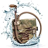 Source Tactical Kangaroo 1-Liter Collapsible Canteen Hydration System System with Storm Push-Pull Drinking Valve with Pouch (Multicam)