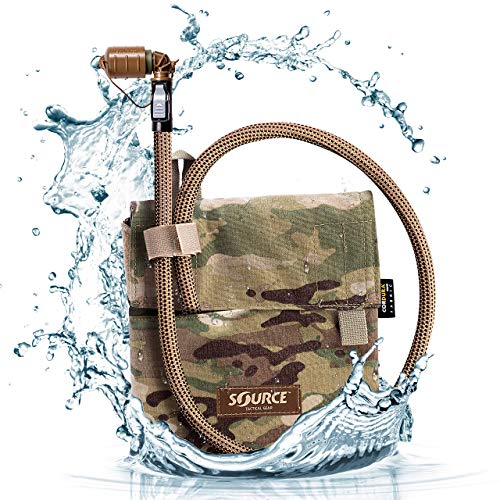 Source Tactical Kangaroo 1L Collapsible Canteen with Pouch Trinksystem, Multicam, 1 Liter / 32 oz