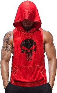 Mens Skull Print Sleeveless Fitness Vest Bodybuilding Stringers Workout Tank Tops
