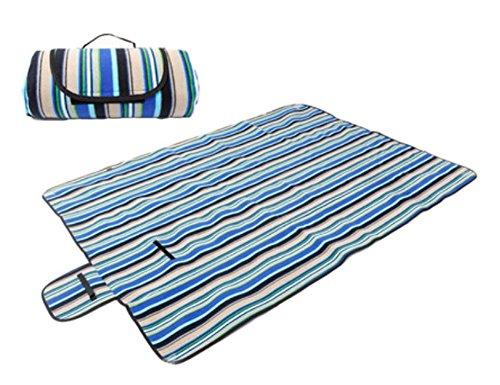 Tapis de pique-nique en extérieur – Ouvrant épais coussin Camping Plage Imperméable -- bleu S
