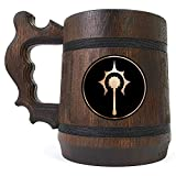 Cleric D&D Wooden Beer Mug, Dungeons & Dragons Beer Tankard, Custom Beer Stein, Gift for Geek, DnD Gift for Him