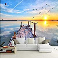 Bosakp 海鳥海岸ドック風景スタイル大ポスター画像シルク壁画Hdアートプリント壁画寝室 100X50Cm