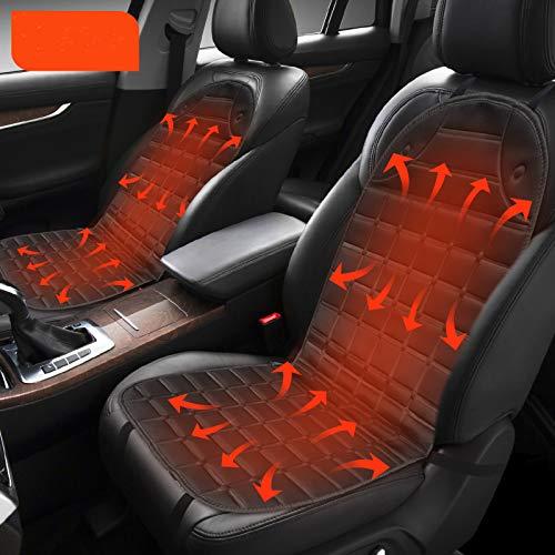 Auto Sitzheizung Heizkissen 12V Beheizte Sitzauflage,Heizauflagen Auto Sitzbezüge, Universal Vordersitz Heizauflage für Auto, Schwarz, 1 Paar