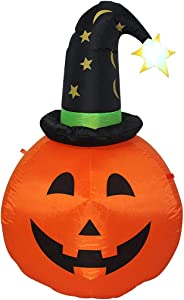 TRMESIA Inflatable Halloween 3.5-feet hat Pumpkin Decoration Will Blow up The Halloween Garden Decorations, Suitable for Indoor and Outdoor, Lawn, Garden and Other Places