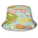 fudin Sombrero de Pescador Unisex Easter Extravaganza Big Set Cute Chocolate Plegable De Sol/UV Gorra Protección para Playa Viaje Senderismo Camping