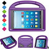 Kids Case for Fire HD 8 - TIRIN Light Weight Shock Proof Handle Kid –Proof Cover Kids Case for Fire HD 8 Tablet (7th and 8th Generation Tablet, 2017 and 2018 Release) NOT for 2020 Fire 8, Purple