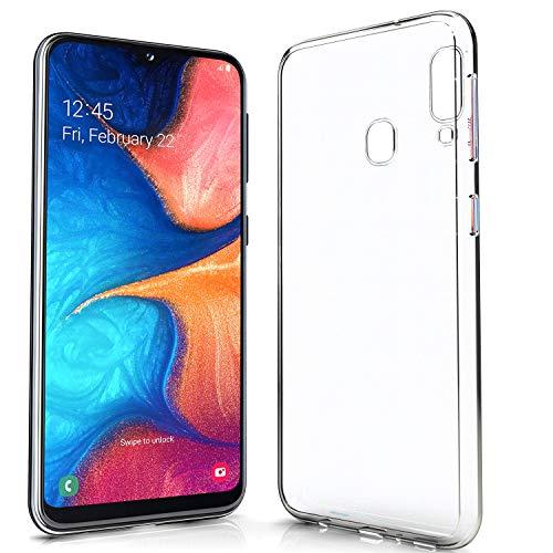 NewTop N Cover Compatibile per Samsung Galaxy A20E, Custodia TPU Clear Gel Silicone Anti Graffio Trasparente Slim Sottile Flessibile Back Case Posteriore Protettiva