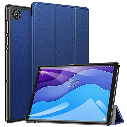 ZtotopCase - Custodia per Lenovo Tab M10 HD (2nd Gen), Modello TB-X306X TB-X306F, Ultrasottile, alla Moda e Pratica, Tripla Piegatura, per Lenovo Tab M10 10.1  HD, Colore: Blu