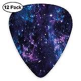 Cielo místico espacial con cúmulos estelares Nebulosa del cosmos Ilustraciones del paisaje celestial Púrpura oscuro y azul (paquete de 12)