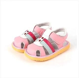 [LEDING HAPPY] ベビーサンダル ベビーシューズ 女の子 男の子 可愛い靴 夏用 つま先保護 赤ちゃん 柔らかい ファスートシューズ ベビー 男女兼用 本革 サンダル 滑り止め