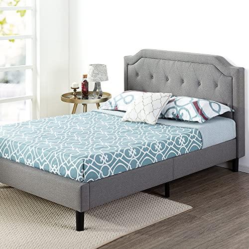 Zinus Kellen Upholstered Scalloped Button Tufted Platform Bed