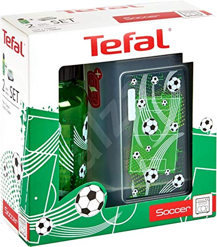 Tefal Kids Lunchbox and Drinks Bottle Soccer Football Design