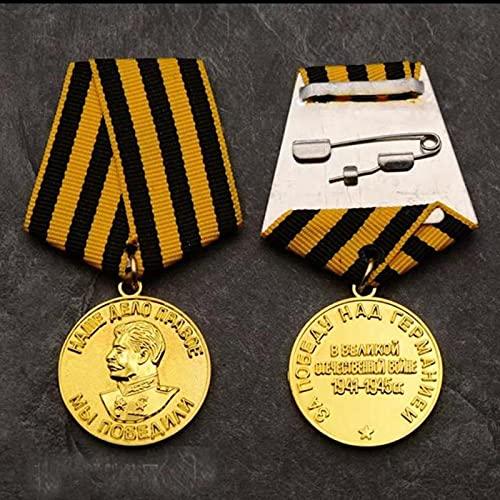 YUNjun ColecciónConmemorativa de la Insignia de la URSS de la Medalla patriótica de Stalin de laUnión Soviética